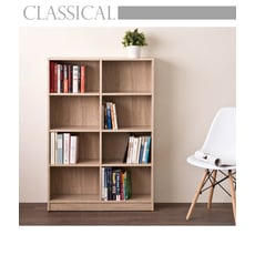 【TZUMii】居家八格書櫃/收納櫃-淺橡木