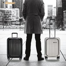 【YC Eason】前開式行李箱/商務箱/前開箱/PC/廉航登機箱/19吋/海關鎖