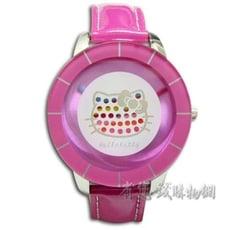 《省您錢購物網》全新~HELLO KITTY彩虹網點秒盤合金錶-粉色(HKFR912-01B)