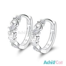 AchiCat 925純銀耳環 甜蜜心情 純銀易扣耳環 GS7111