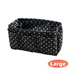 手工包中包收納包 包包隔層袋 收納袋 黑色點點 中型 台灣製可水洗【歐必買ObuyNow】