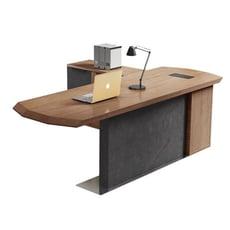 芝加哥工業風7.2尺L型主管桌/辦公桌/工作桌