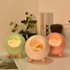 【3AbestBuy】超萌寵物貓咪夜燈 /氛圍燈 /USB小夜燈 /床頭燈/ 伴睡夜燈