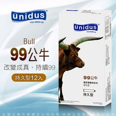 ◤ViVi◥unidus優您事 動物系列保險套-99公牛-持久型 12入