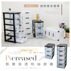 [現貨]歐德萊 三層櫃 輕簡風透明抽屜櫃【WPP-018】收納箱 整理箱 置物箱 置物櫃 置物架