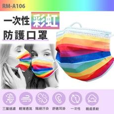 【預購】RM-A106一次性防護彩色口罩 50入/包