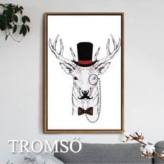 TROMSO北歐風尚板畫有框畫-公爵麋鹿WA037/簡約時尚 藝術擺飾 木框