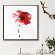 TROMSO北歐時代風尚有框畫-暖紅花鄉WA054/暈染水墨粉紅畫廊藝術