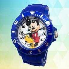 【迪士尼】淘氣米奇運動彩帶錶(藍)