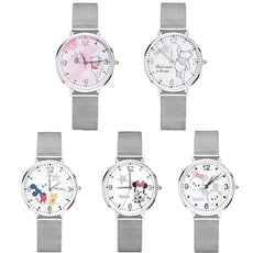 【Disney 迪士尼原裝】米蘭鋼帶手錶(5款任選/正版授權)
