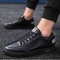 廚師鞋防滑防水防油廚房專用鞋子男生黑鞋黑色休閑皮鞋上班工作鞋TWXH-01681