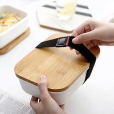 竹蓋日式 可加熱便當盒 環保餐盒  陶瓷便當盒 保鮮盒 便當盒 保溫-大號900ml