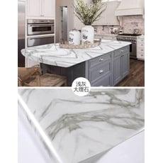 【早道迷居家】加厚加長60X500cm防水仿大理石紋石磚貼 廚房貼 自黏壁紙 防水耐高溫