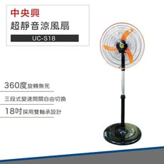 【破盤價】中央興電風扇 18吋外旋轉超靜音涼風扇 UC-S18