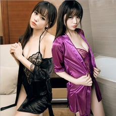 性感誘惑兩件式浴袍 Cosplay 角色扮演 浴袍 主題派對 表演 夜店 性感 連身衣 L1063