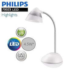 PHILIPS 飛利浦 CAP 酷昊 LED 檯燈(黑/白) 70023
