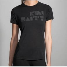 BROOKS (女) 微笑短T Run Happy Tee 運動T  BK221232065 反光黑