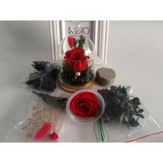 永生花DIY材料包小玻璃罩9*13,多色可選