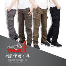 加大尺碼 高磅耐磨防割彈力多口袋工作褲 42腰~50腰