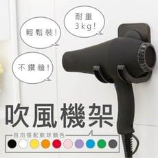 【PIMIC】無痕吸盤吹風機架 黑白本體 色球任選