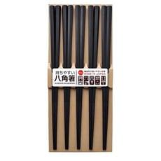 日本八角形PBT筷子黑色(五入組)