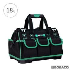 【手提工具收納包(黑綠) 18吋】手提工具袋 手提收納袋 帆布工作包 手提工具包 電工專用
