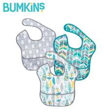 【Bumkins】防水圍兜兜(三件組) S3-N16 羽毛箭