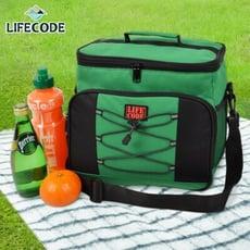 【LIFECODE】歐風保冰袋/保溫袋 /保冷袋 (15L)-綠色
