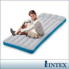 【INTEX】單人野營充氣床墊/露營睡墊-寬72cm (灰藍色)(67998)