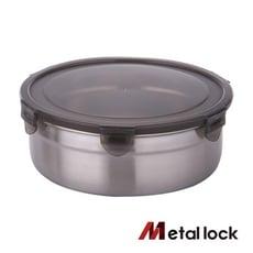 【韓國Metal lock】圓形不鏽鋼保鮮盒1900ml