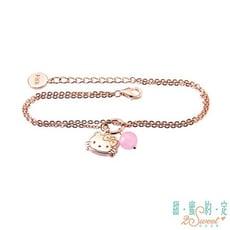 甜蜜約定 hellokitty 粉紅少女kitty純銀手鍊-雙鍊款現貨+預購