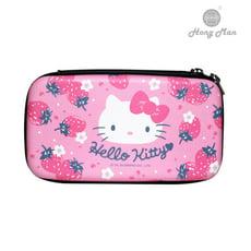 【Hong Man】三麗鷗系列 硬殼收納包 Hello Kitty 草莓