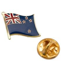 New Zealand 紐西蘭 國徽胸章 金屬別針 國徽胸徽 金屬飾品 國徽配飾 出國 辨識