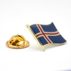 Iceland 冰島國旗紀念別針 國徽胸徽  遊學出國 國家胸徽 國旗配飾 國家徽章 收藏用