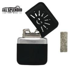 小太陽造型白金懷爐套組(黑) (含白金觸媒x1) 隨身暖爐 暖蛋 煤油暖爐 可連續使用長達6小時