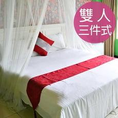 【精靈工廠】五星級飯店專用白色 雙人床包 3件套(B0646-M)