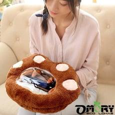【OMORY】創意可透視窗暖手抱枕(加贈暖手寶隨機2入)