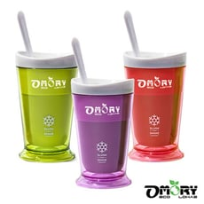 【OMORY】涼夏神奇酷涼奶昔冰沙杯(附匙)-3色