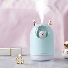 HUMIDIFIER 萌熊霧化精油水氧機 七彩夜燈加濕器 香薰機 靜音車載加濕器