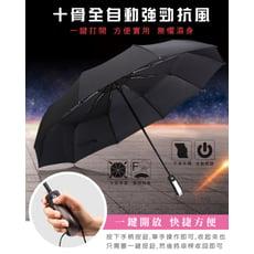 【GOODAY好實用】抗UV十骨自動雨傘 收納超方便