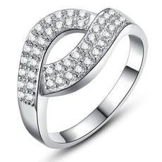 弧形鑲鑽合金戒指-BKA953