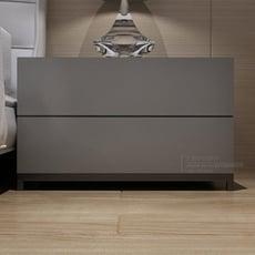北歐個性收納櫃簡約灰色鋼琴烤漆床頭櫃現代時尚儲物床邊櫃整裝LX