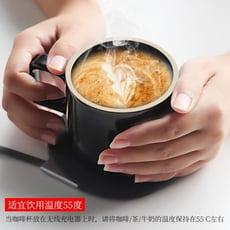 保溫墊usb自動加熱水杯55度電恒溫杯底座辦公室暖暖杯蘋果手機無線充電器板陶瓷LX