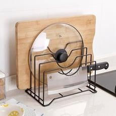 多功能鐵藝菜板架多層砧板架案板收納廚房置物架用品放鍋蓋的架子