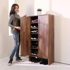 《BuyJM》小資族低甲醛集成木紋雙門鞋櫃(高120公分)