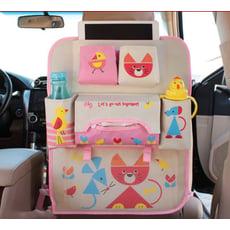 日本卡通汽車收納袋座椅掛袋車用椅背置物袋背掛摺疊雜物袋儲物袋