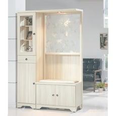 【MUNA】溫士頓雪杉白色4尺雙面屏風鞋櫃(另有胡桃色)