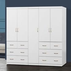 【MUNA】阿諾德 7 X 7尺白色衣櫥/衣櫃