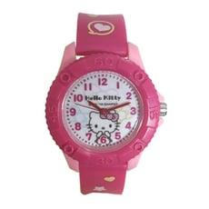祈禱KITTY桃紅 兒童齒輪膠錶