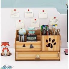 DIY多功能桌上收納盒 多功能筆筒 化妝品收納盒 收納盒